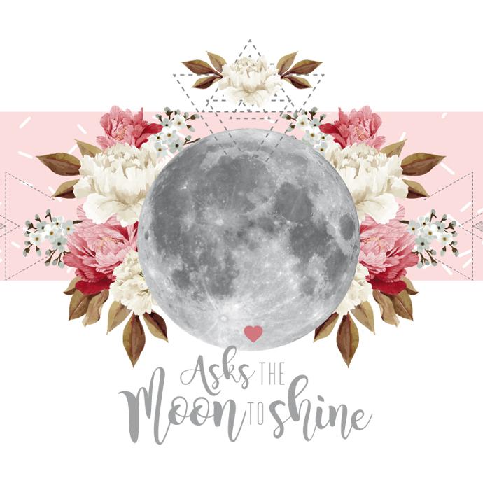 calendrier fond ecran moon & flower Exochic