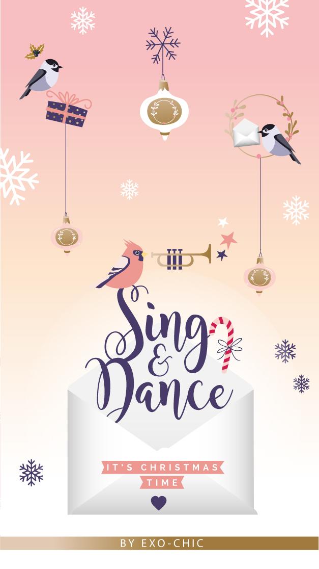 CALENDRIER FOND ÉCRAN NOËL : SING AND DANCE !