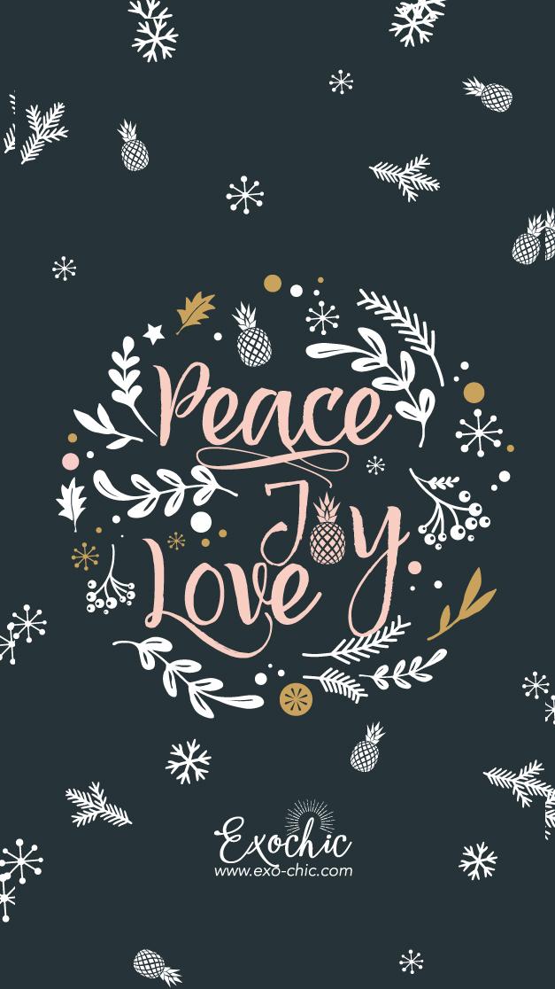 Fond Ecran Decembre Exochic Peace Joy Love 3 Mots