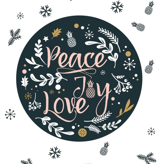 FOND ECRAN DÉCEMBRE EXOCHIC : PEACE, JOY & LOVE, 3 MOTS MAGIQUES