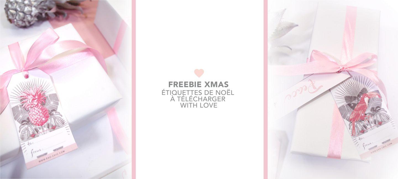 DIY etiquette noel cadeau free printable