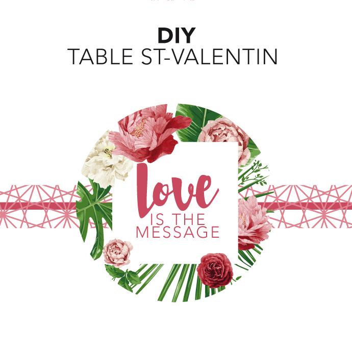 DIY ST VALENTIN : pour une table so chic !