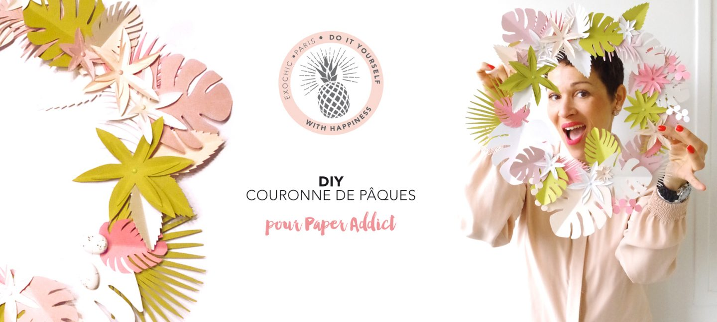 DIY couronne paques exochic