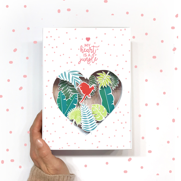 DIY SHADOW BOX St Valentin : My Heart is a Jungle