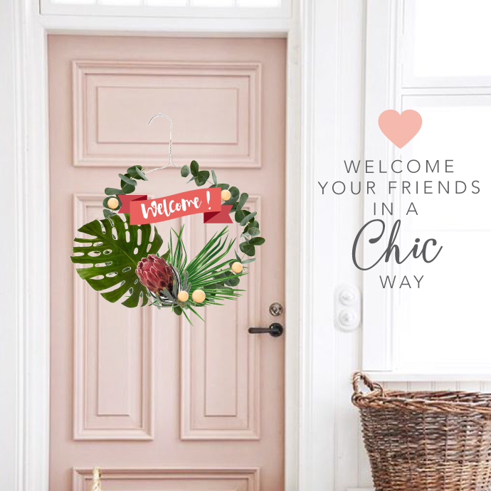 COURONNE DE PORTE : WELCOME DOOR TROPICAL