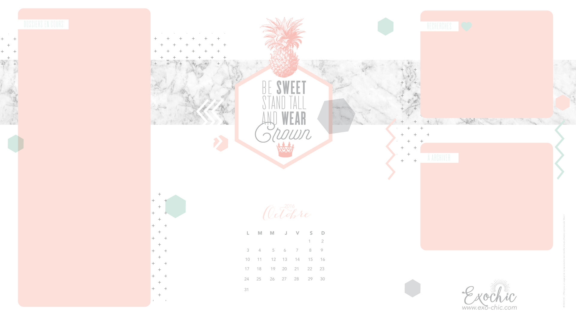 Fond Ecran Free Printable Octobre Be Sweet Stand Tall And Wear